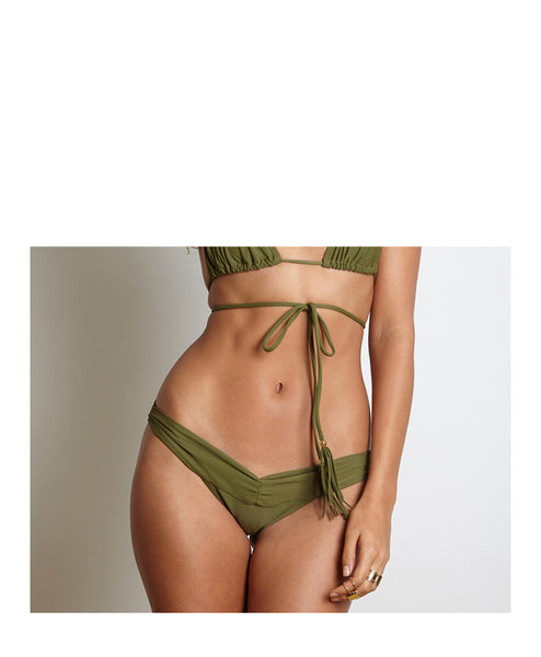 Army Bikini Cinch Bottom