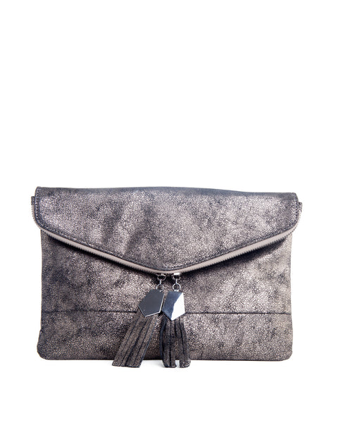 Brooklyn pewter Clutch