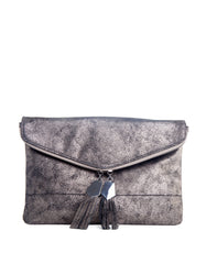 Brooklyn pewter Clutch - Koko & Palenki - 1