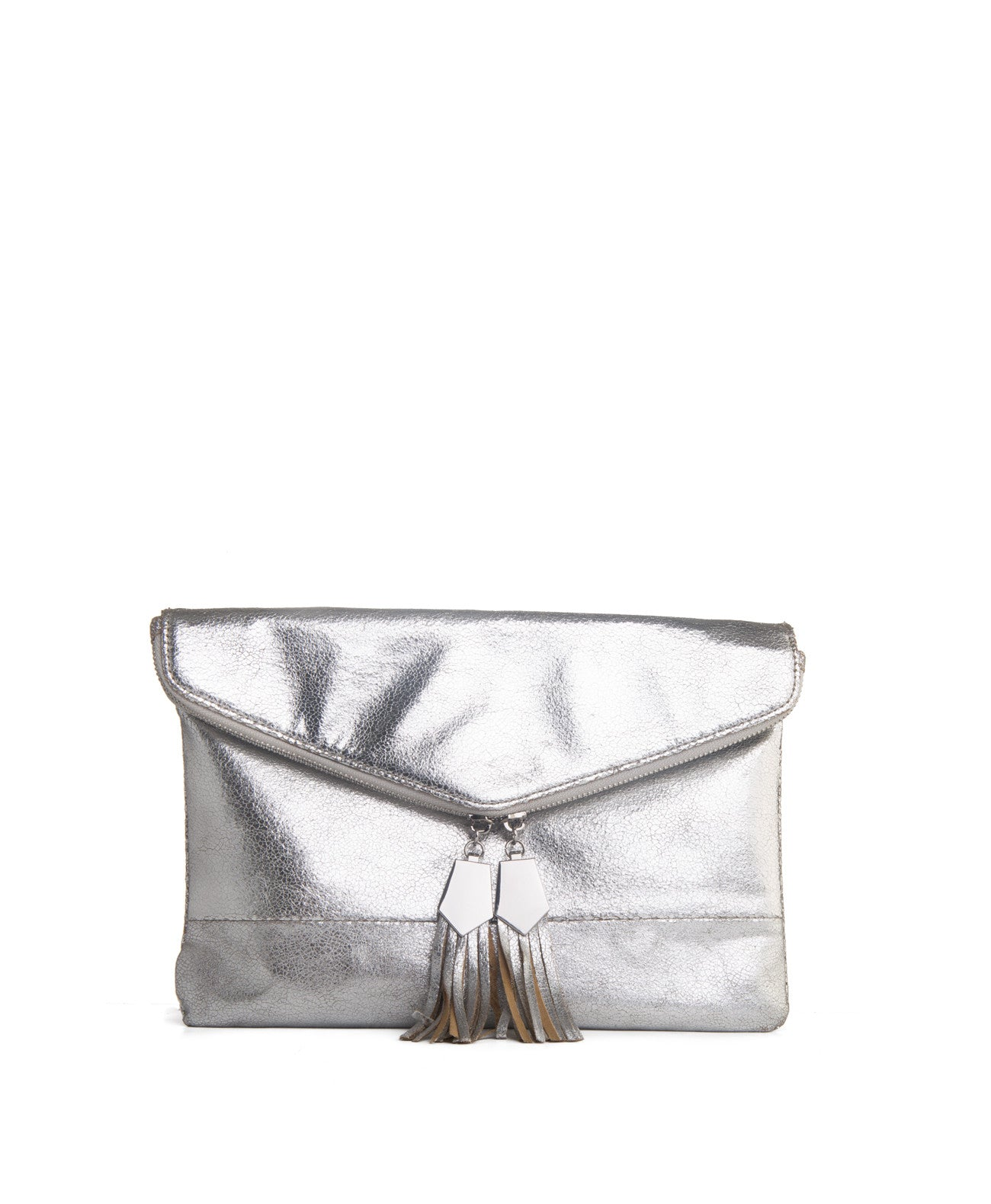 Brooklyn silver clutch - Koko & Palenki - 1