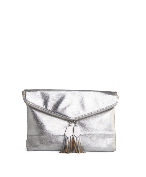 Brooklyn silver clutch