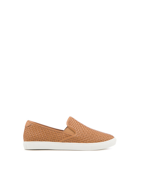 Calina Woven Leather Slip-on Sneaker