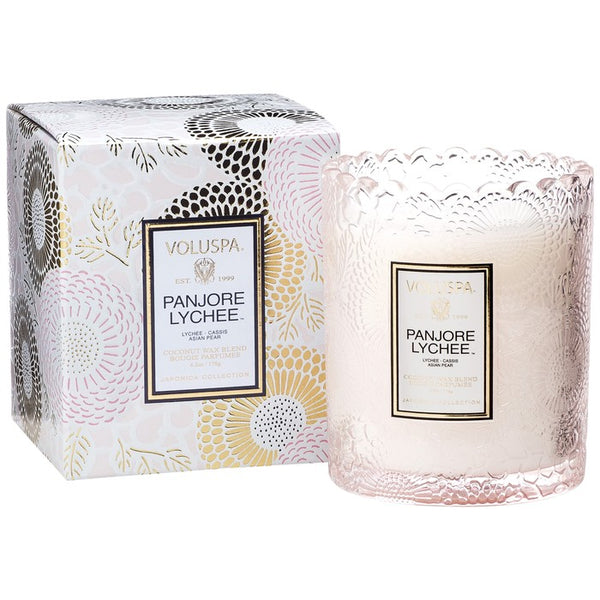 7206_Lychee Japonica Collection Scalloped Edge glass candle