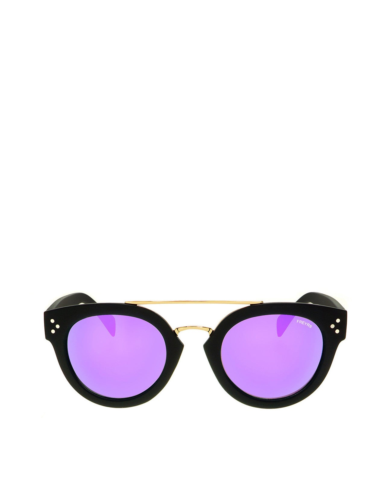 Deni-Blk/Purple Deni Round Sunglasses