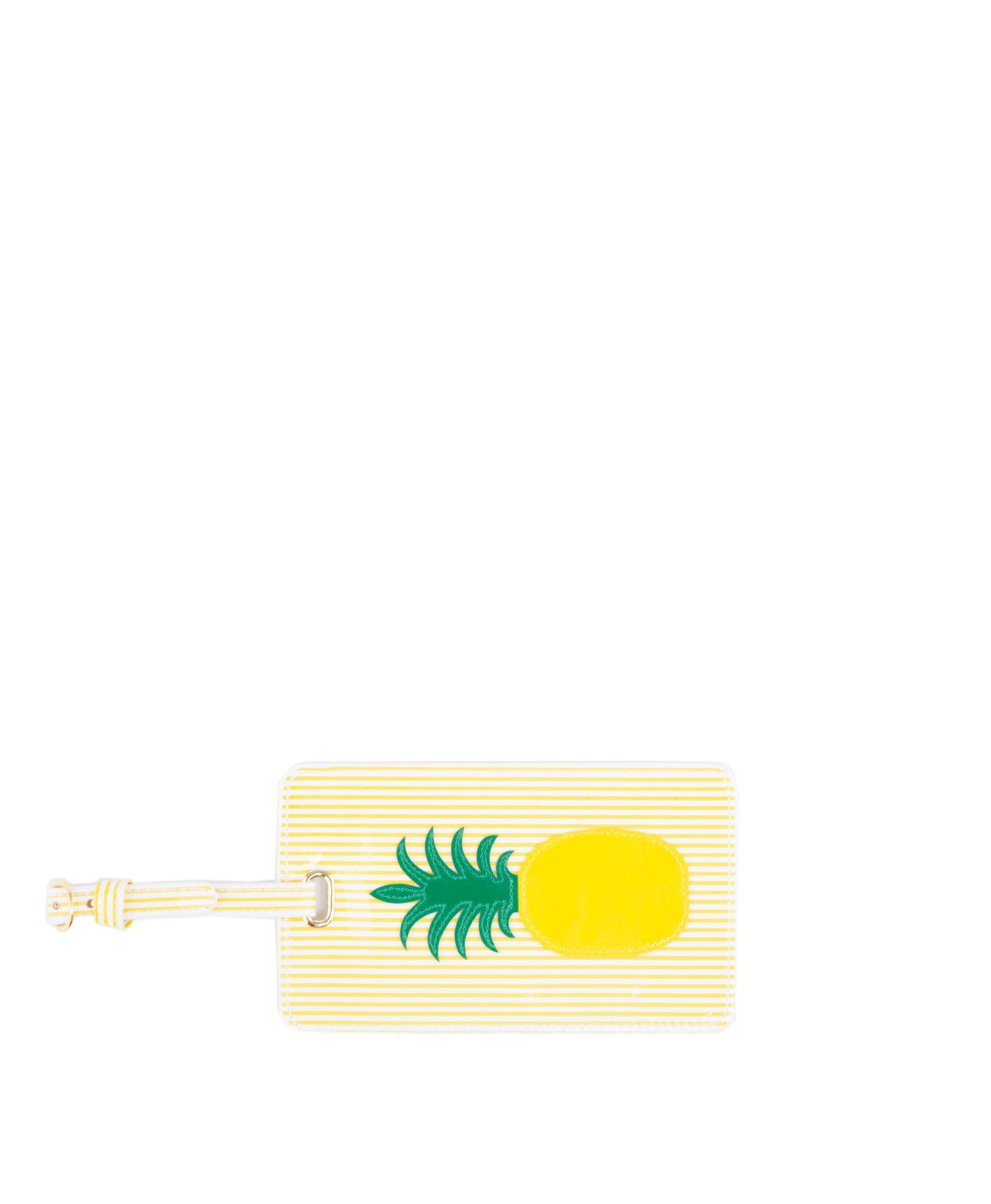 Yellow Striped Pineapple Luggage Tag - Koko & Palenki