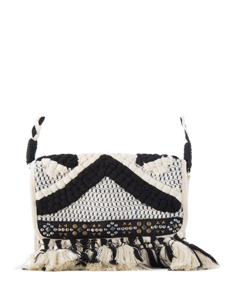 Divit studded tassel crossbody