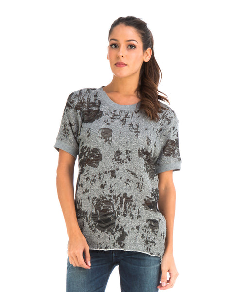 Burnout Dark Gray Tee