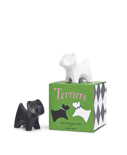 Terrier Salt & Pepper Shaker Set