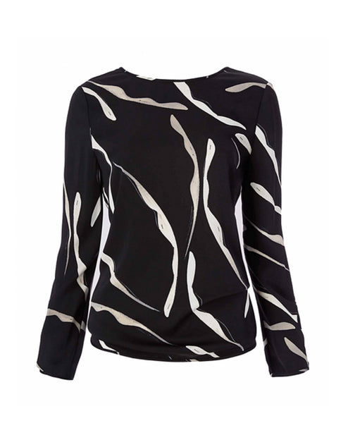 Evvy Long Sleeve Printed Blouse