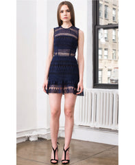 Felicia Indigo Lace Mini Dress