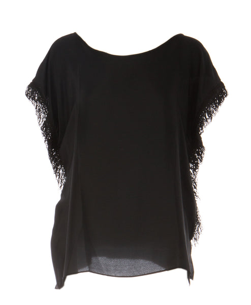 Gerildine Oversized Fringe Top