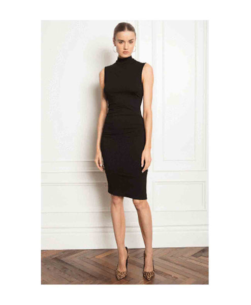 Lawley Fitted Turtleneck S/L dress