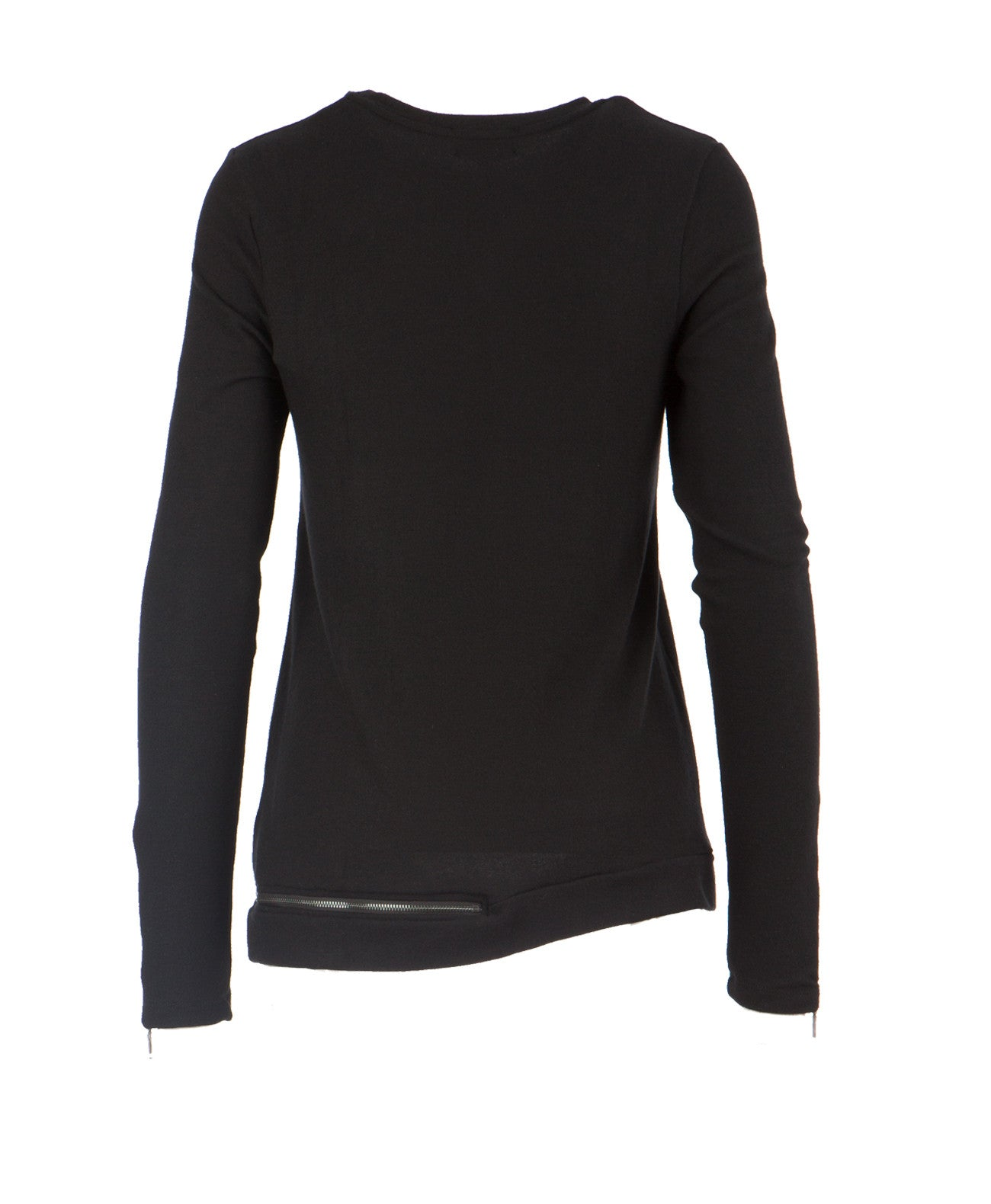 Marcelle Side Zip Long Sleeve Sweater
