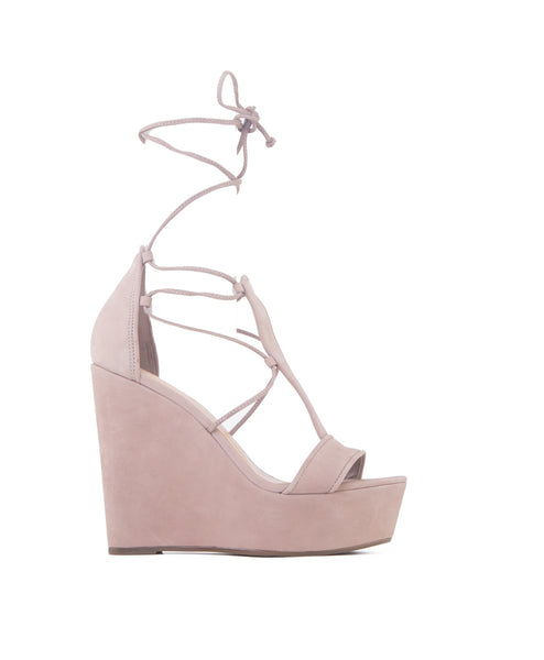 Marya neutral Tie Up Platform Wedge