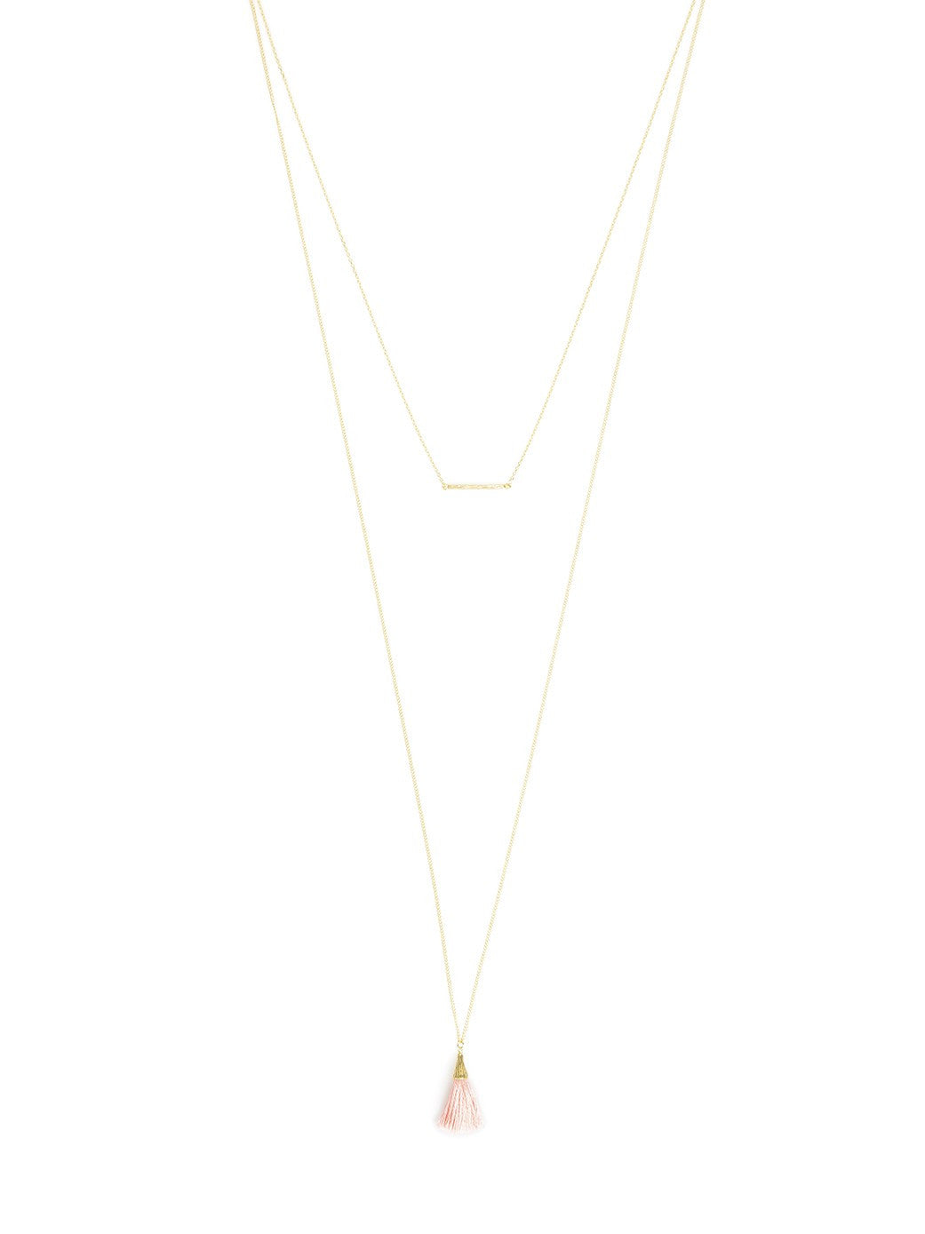 Mini Tassel and Bar Layered Necklace - Koko & Palenki - 1