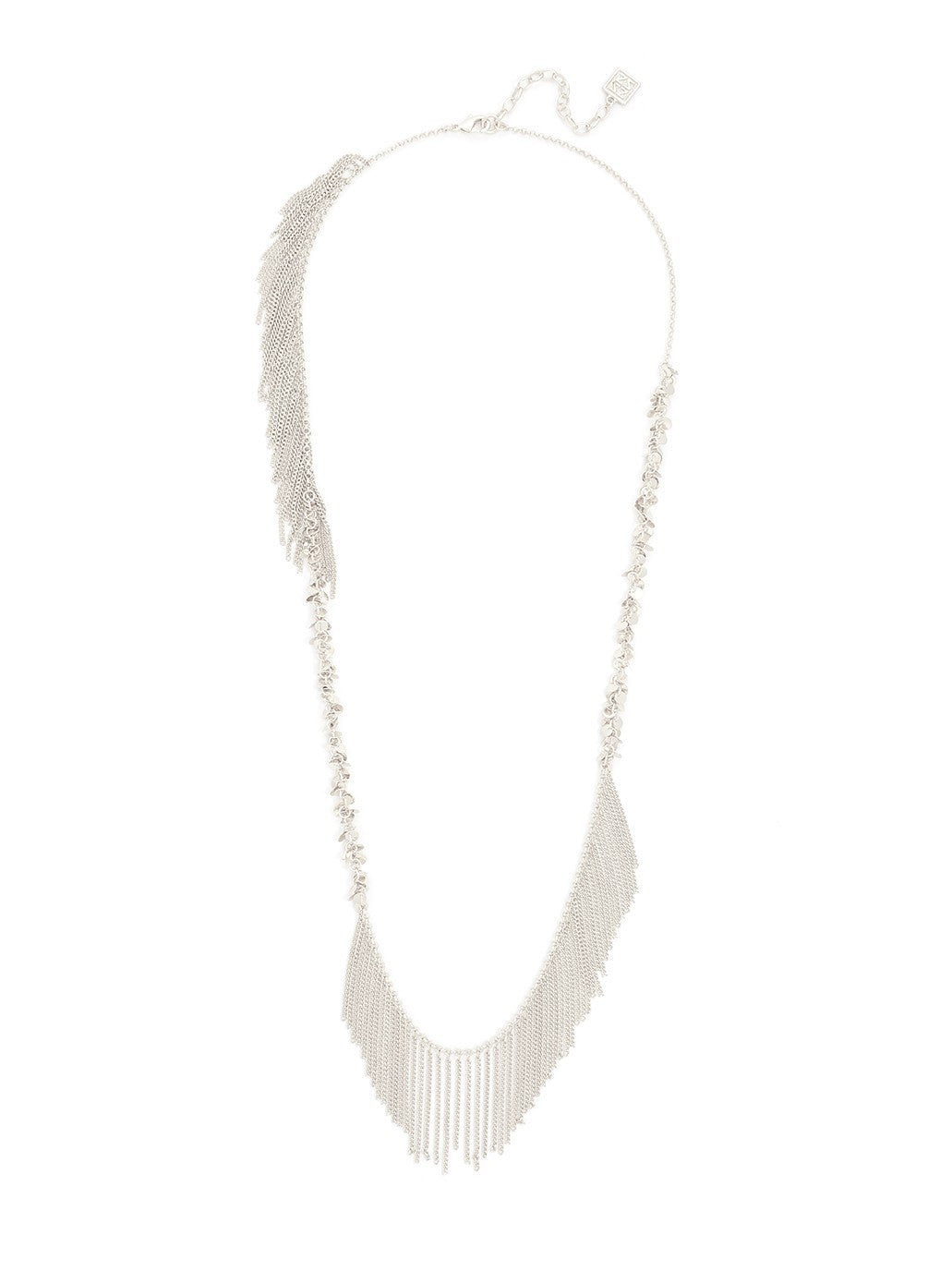 Metal Fringe and Small Disc Necklace - Koko & Palenki - 1