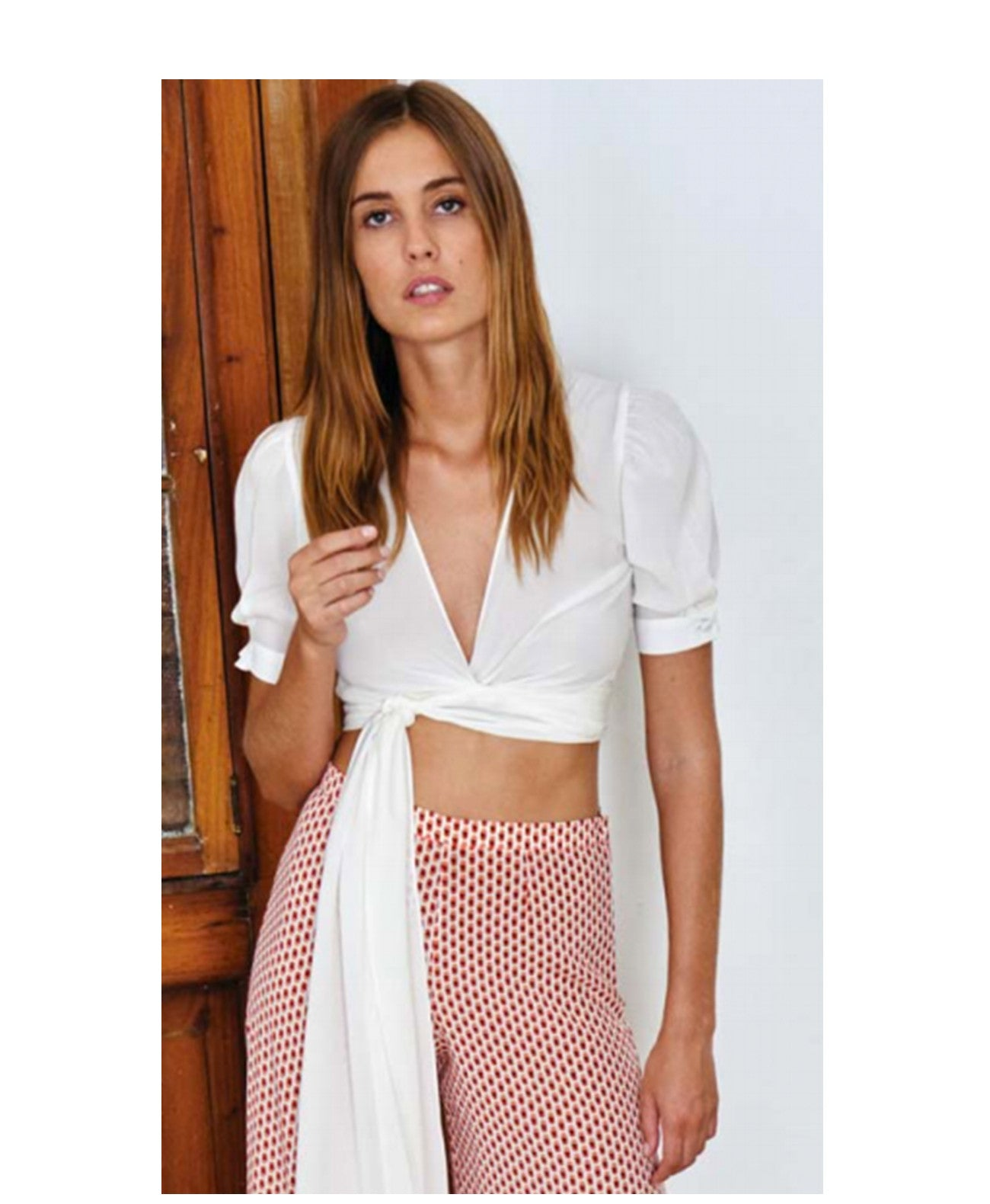 NOLY short sleeve wrap crop - Koko & Palenki - 1