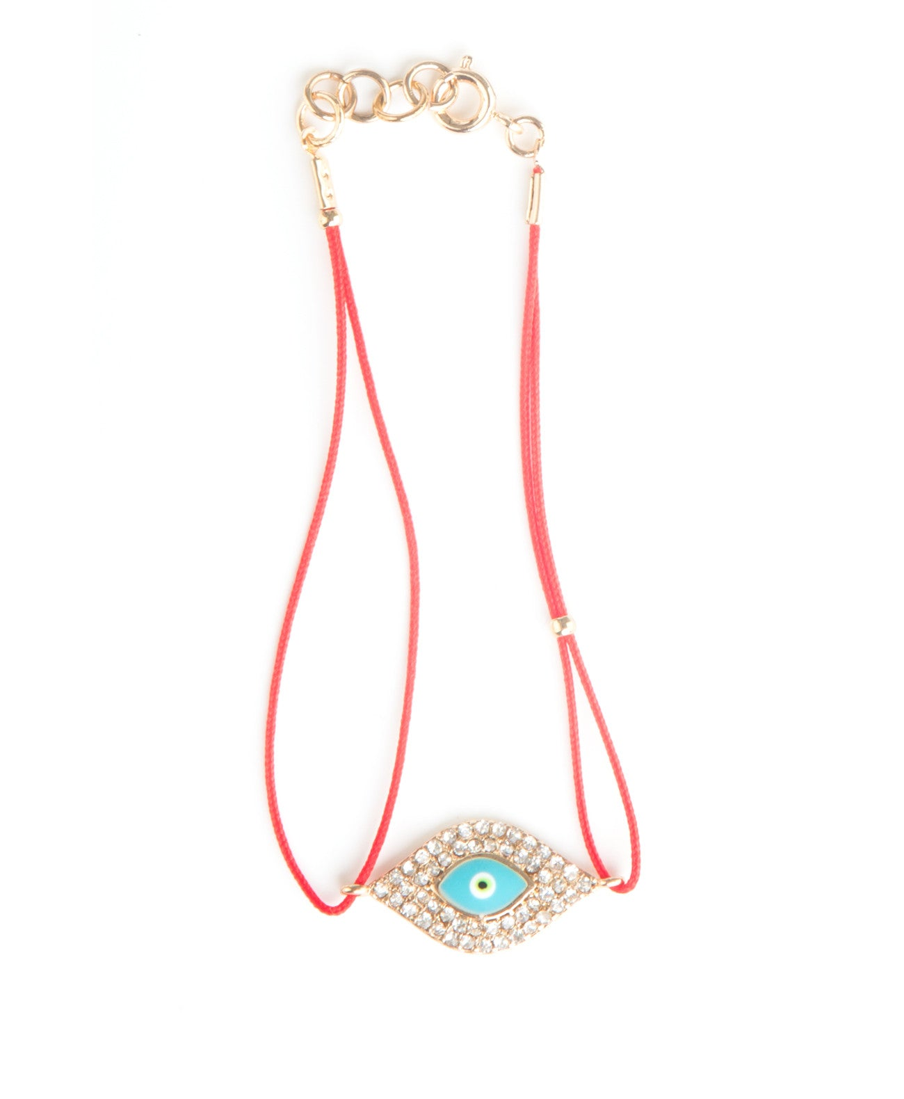 Red String Eye Enamel Bracelet - Koko & Palenki
