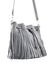 Royce Crossbody Bucket Bag w/ Fringe - Koko & Palenki - 2