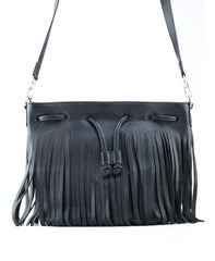 Royce Crossbody Bucket Bag w/ Fringe - Koko & Palenki - 4
