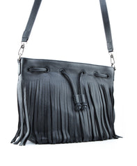 Royce Crossbody Bucket Bag w/ Fringe - Koko & Palenki - 5