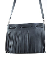 Royce Crossbody Bucket Bag w/ Fringe - Koko & Palenki - 6