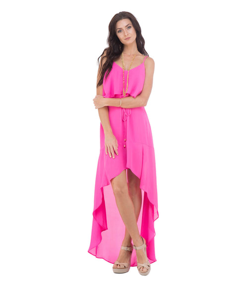 Vicki High Low Ruffled Maxi Dress