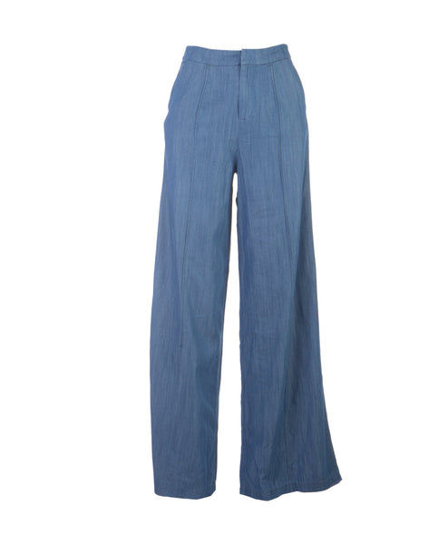 Wide Leg Chambray Pants