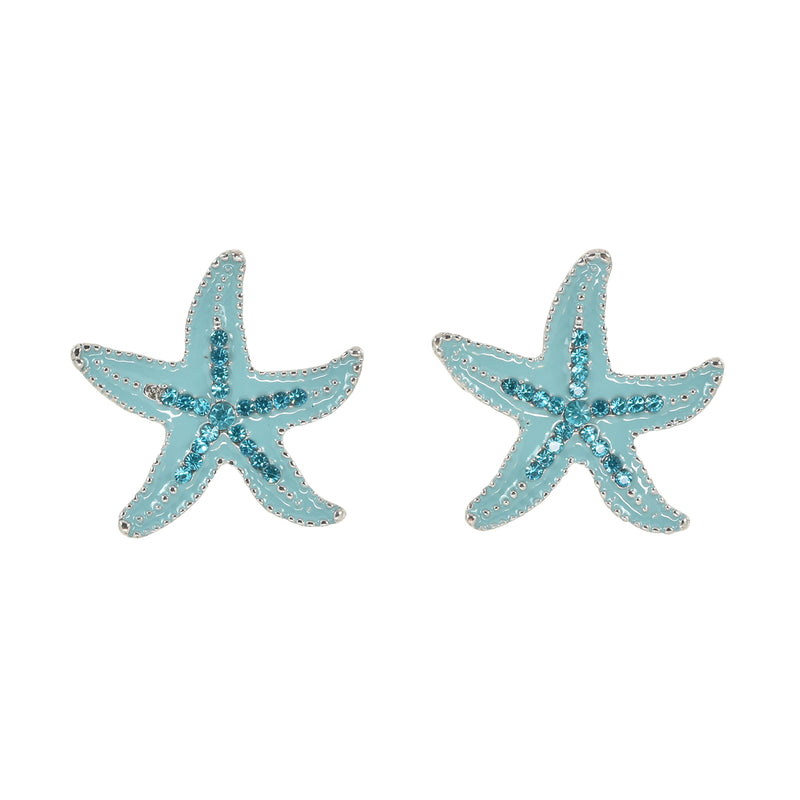 Crystal Starfish Baby Blue
