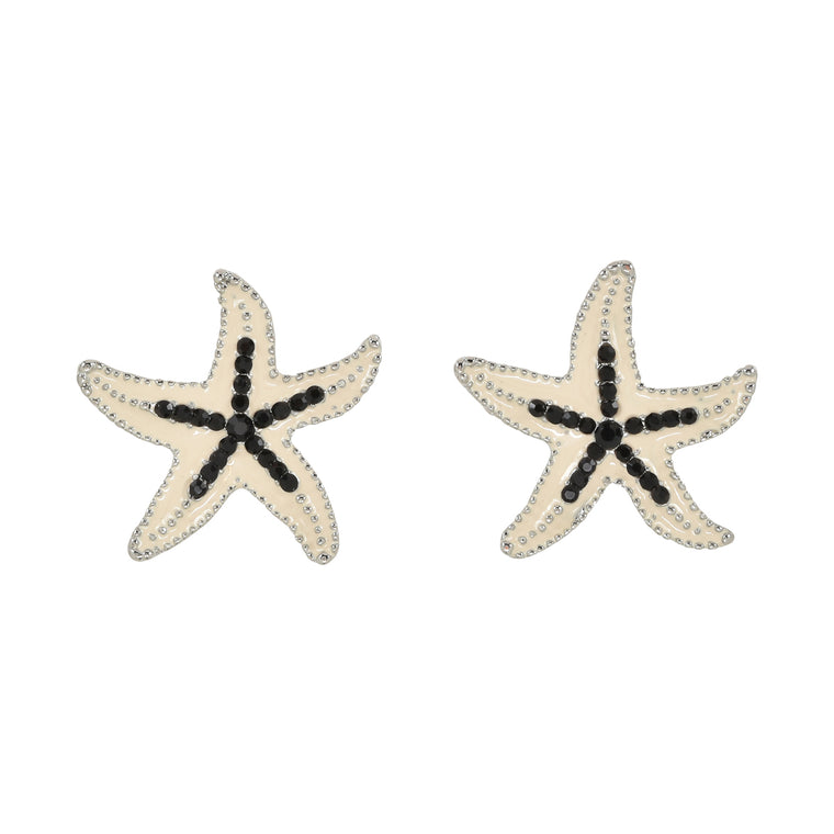 Crystal Starfish White Black