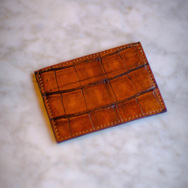 Made-to-Order Alligator Card Cases