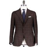 Brown Glen Check Wool/Cashmere Campania Jacket