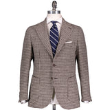 Natural/Brown Houndstooth Tweed Campania Jacket
