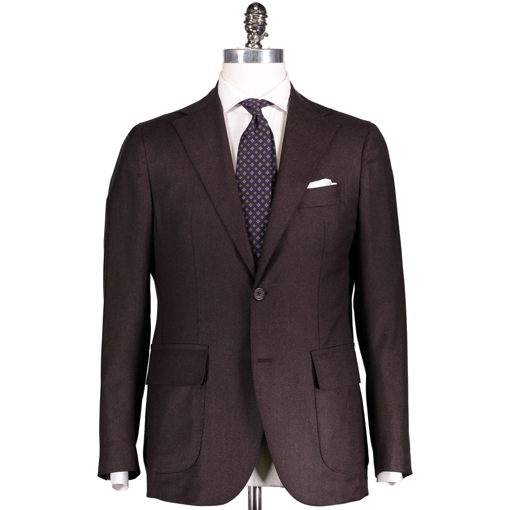 Chocolate Brown Flannel Campania Suit