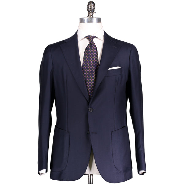 Navy Blue Worsted Wool Campania Suit