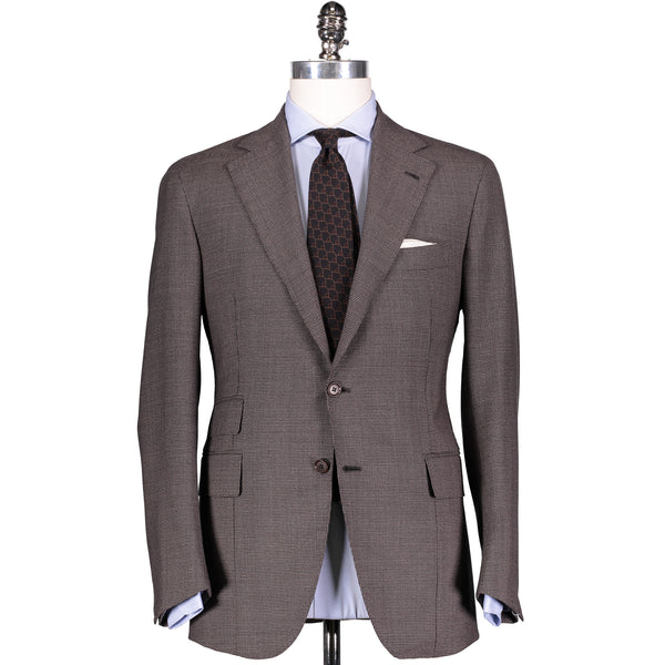 Brown Puppytooth Worsted Wool Suit