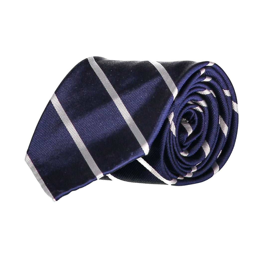 Navy Bar Stripe Repp Tie