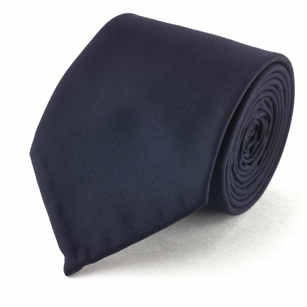 Plain Wool Tie - Blue
