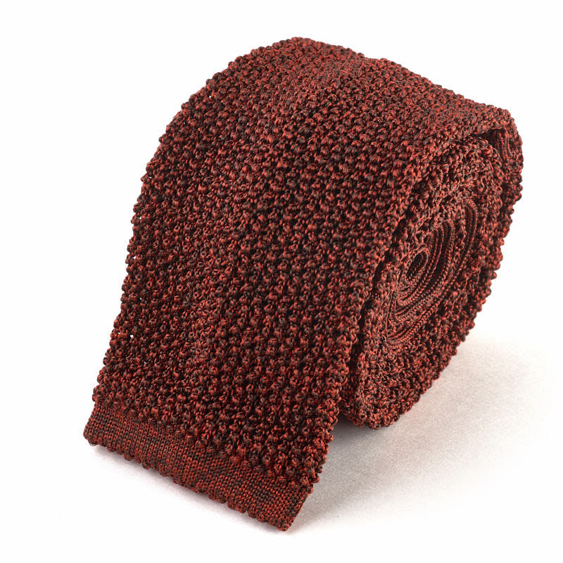Knit Tie - Burnt Orange