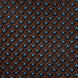 Knit Tie - Brown with Blue Dots