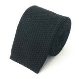 Knit Tie - Black Cotton