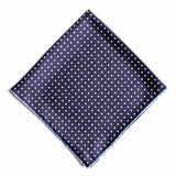 Pocket Square - Navy with White Spots