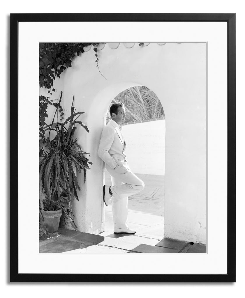 Bogart in White, Framed photograph