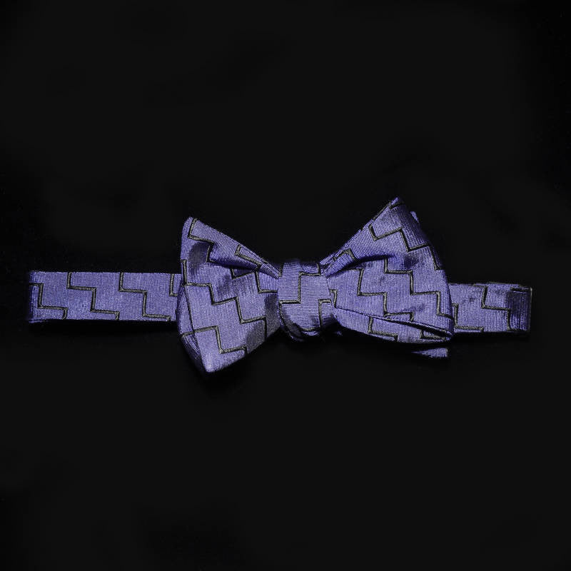 Bowtie - Zigzag in Purple