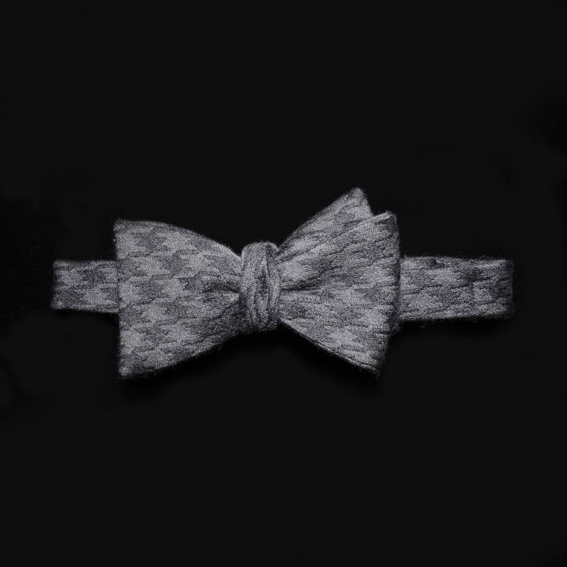 Bow tie - Stone Gray Houndstooth