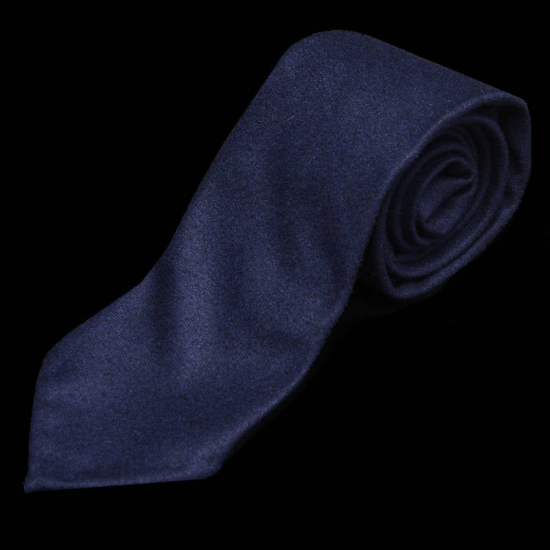 Flannel Navy Blue Tie