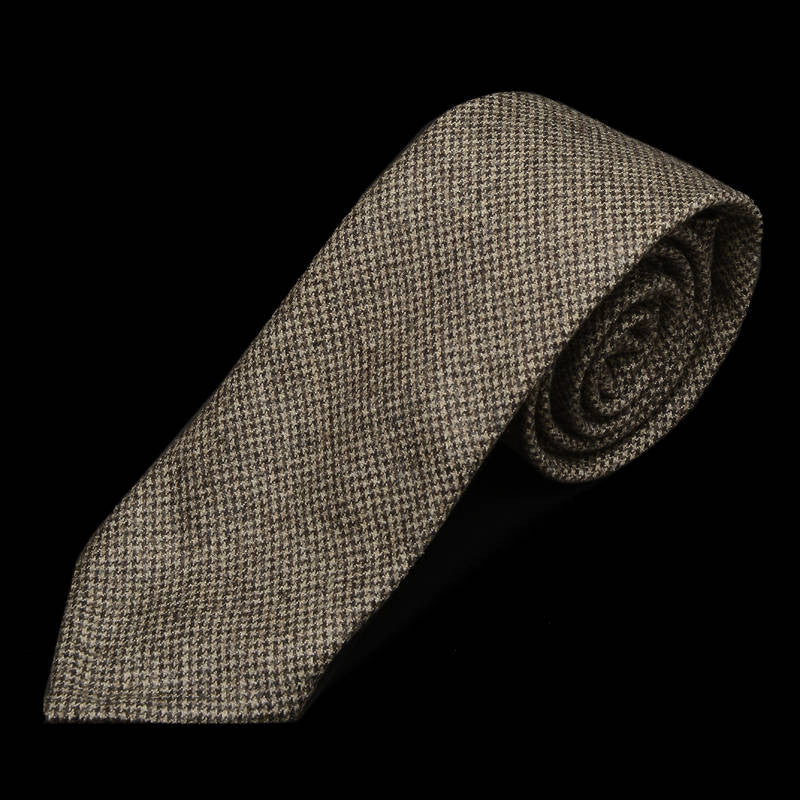Flannel Grey Micro Check Tie