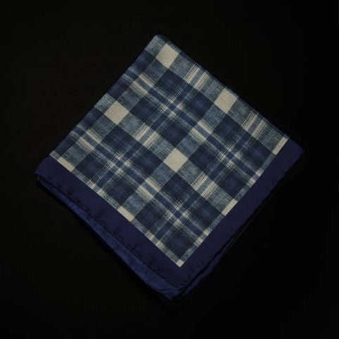 Pocket Square - Blue Check