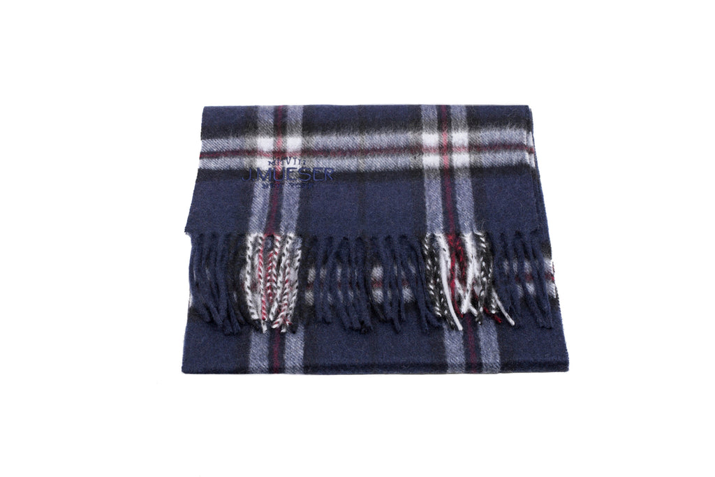 Cashmere Scarf - Blue Plaid