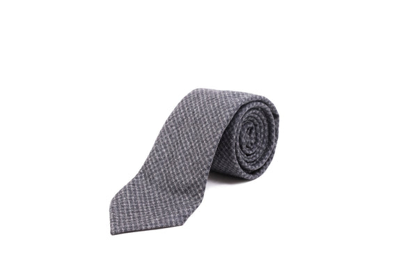 Flannel Tie - Check in Charcoal
